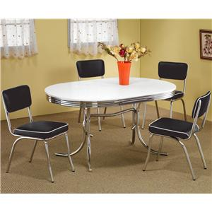5 Piece Chrome Plated Dining Set