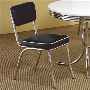 Coaster Cleveland Chrome Plated Side Chair