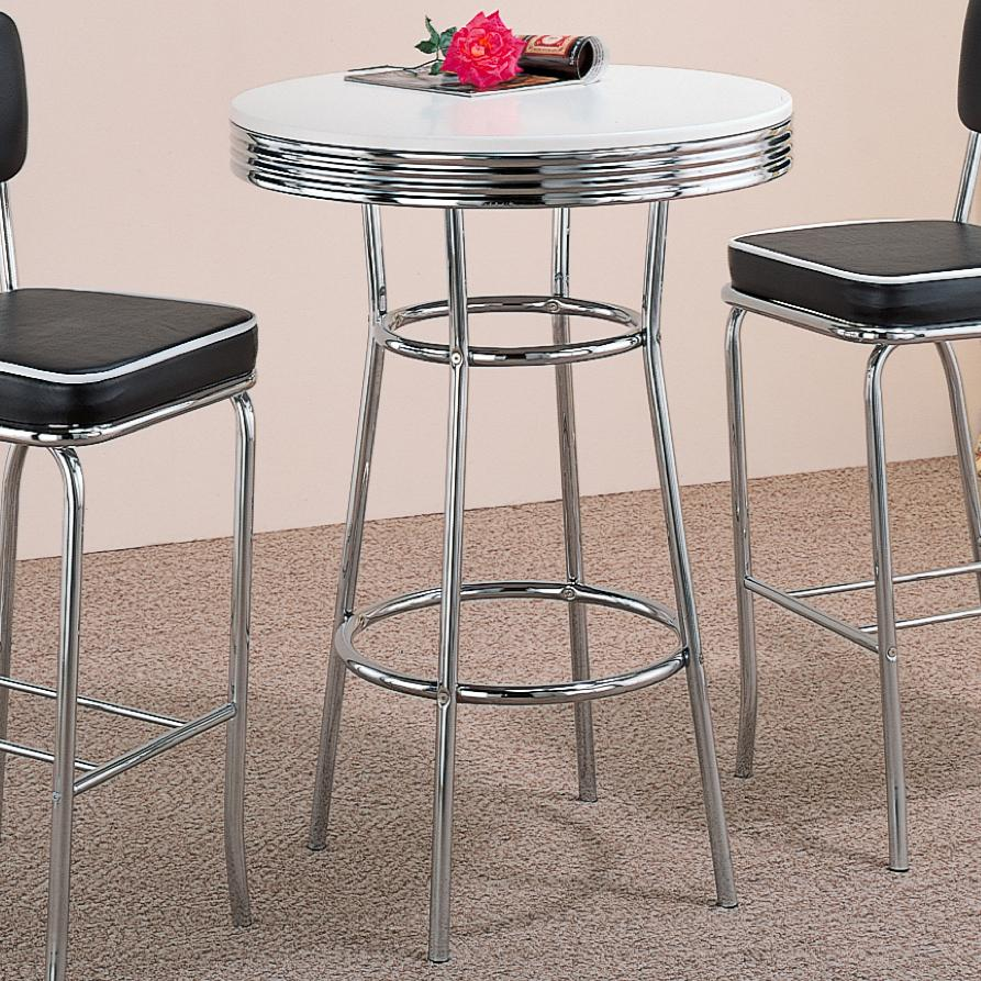 Cleveland 50's Soda Fountain Bar Table by Coaster at Northeast Factory Direct