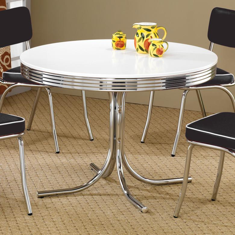 Cleveland Round Dining Table by Coaster at Miller Home