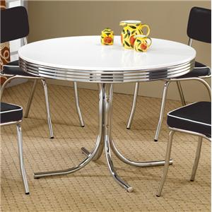 Round Chrome Plated Dining Table
