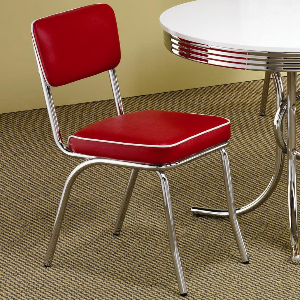 Cleveland Chrome Plated Side Chair by Coaster at Northeast Factory Direct