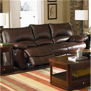 Brown Leather Double Reclining Sofa