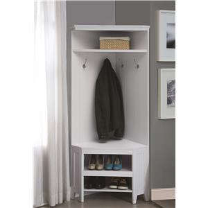 Corner Hall Storage with Shoe Storage
