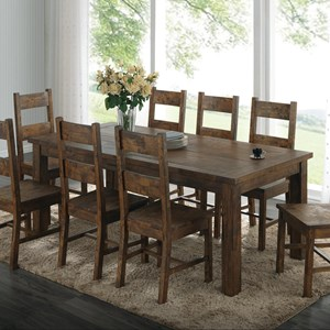 Rustic Dining Table with Over-Sized Block Legs