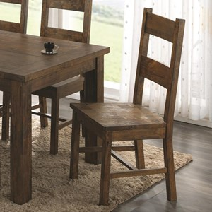 Wooden Dining Chair with Rustic Finish