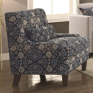 Transitional Chair with Nail Head Trim