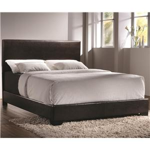 King Upholstered Bed with Low Profile