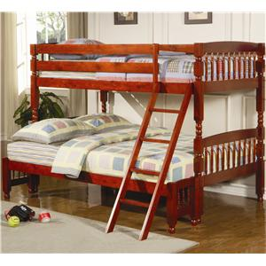 Coaster Coral Twin Over Full Bunk Bed