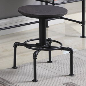 Industrial Style Desk Stool