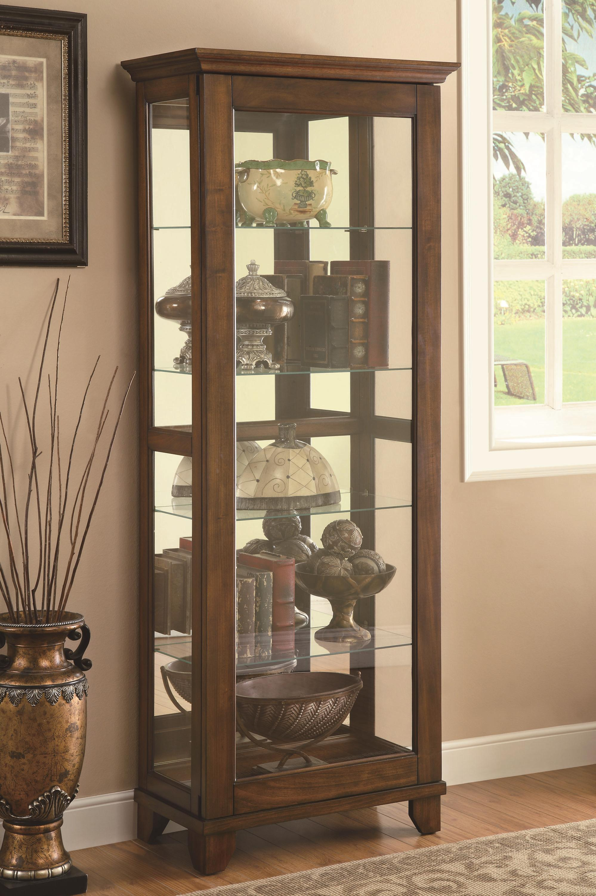 Curio Cabinets Curio Cabinet by Coaster at Lapeer Furniture & Mattress Center