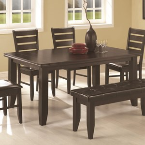 Casual Dining Table with Tapered Legs