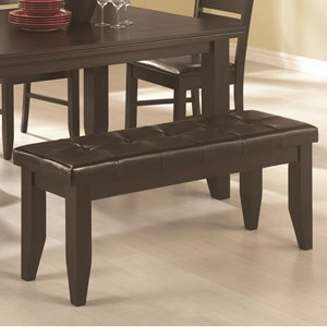 Casual Dining Bench with Cushioned Leatherette Seat