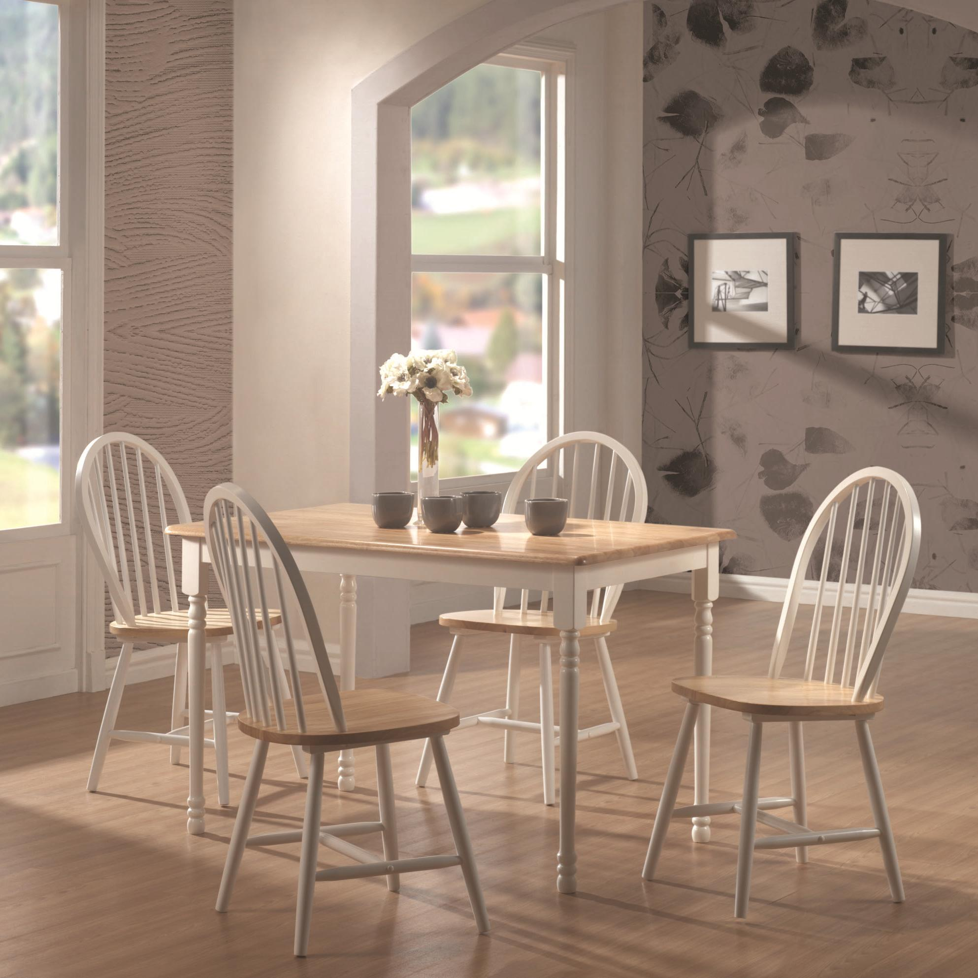 Damen 5 Piece Dining Set by Coaster at Lapeer Furniture & Mattress Center
