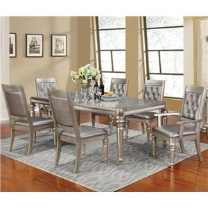 Rectangular Dining Table Set with Leaf