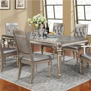 Rectangular Dining Table with Leaf