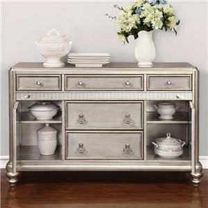 Dining Server with Metallic Finish