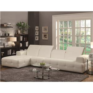 Contemporary Sectional Sofa with Wide Arms