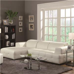 Contemporary Sectional Sofa with Wide Chaise and Adjustable Headrests