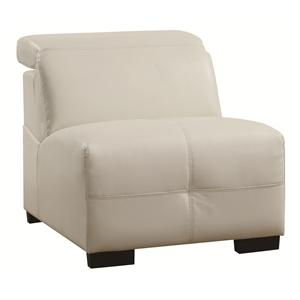 Contemporary Armless Chair with Adjustable Headrest