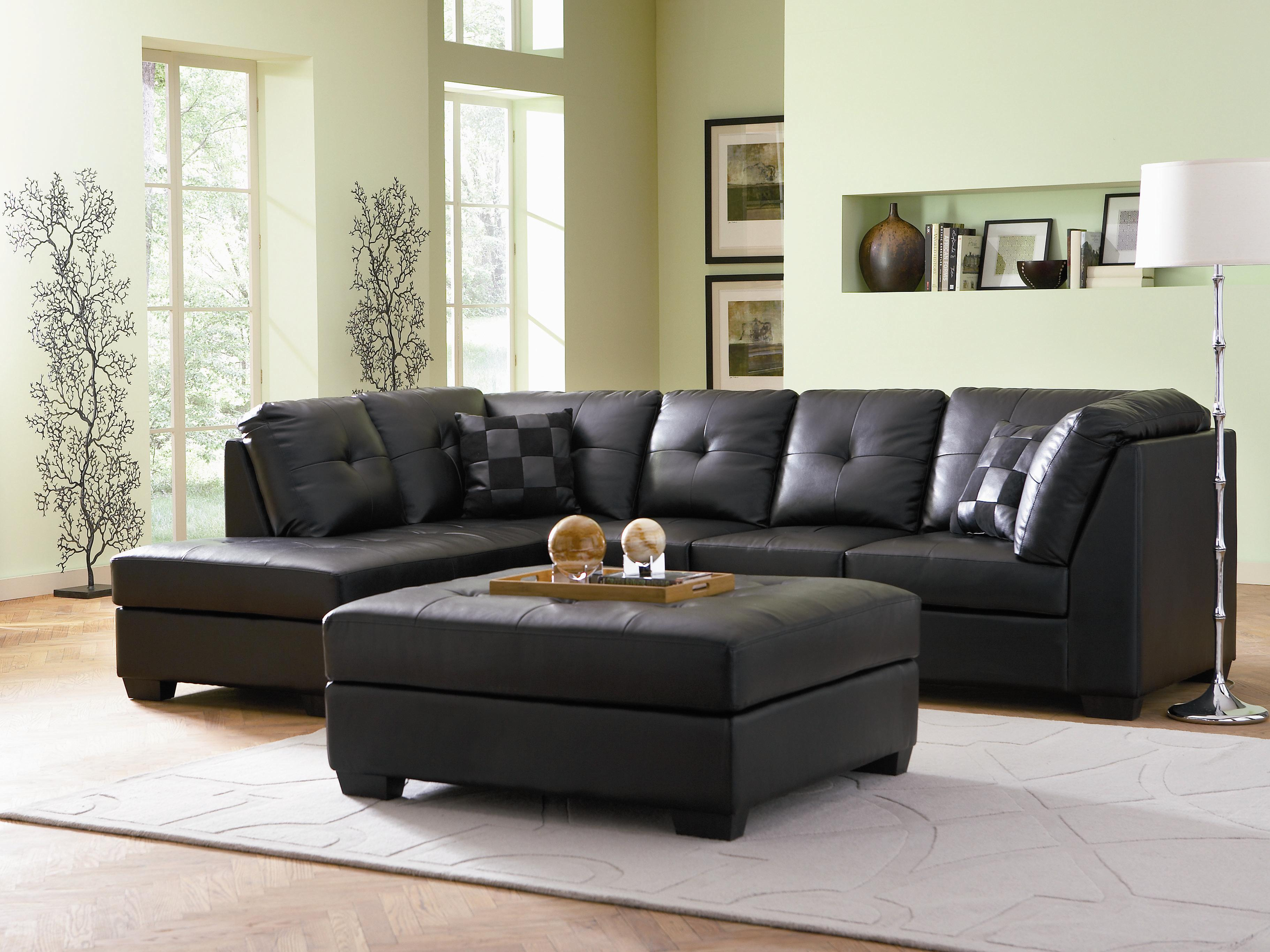 Darie Leather Sectional Sofa by Coaster at Northeast Factory Direct
