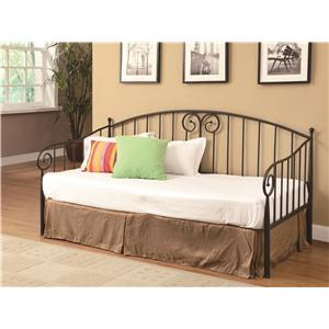 Casual Dark Bronze Metal Daybed