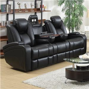 Reclining Power Sofa with Adjustable Headrests & Storage in Armrests