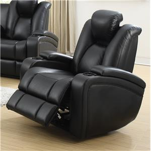 Power Recliner with Adjustable Headrest & Storage in Armrests