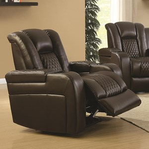 Casual Power Recliner with Cup Holders, Storage Console and USB Port