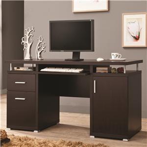 Computer Desk with 2 Drawers and Cabinet