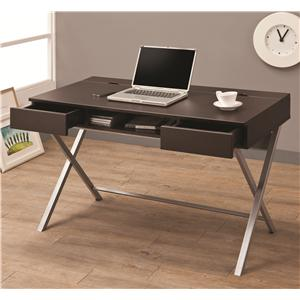 Coaster  - Connect-It Desk (Cappuccino)