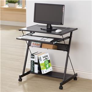Computer Desk with Keyboard Drawer & Casters
