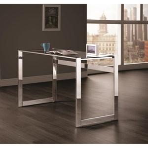 Contemporary Computer Desk with Chrome Legs