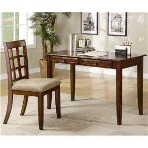 Wood Table Desk with Two Drawers & Desk Chair