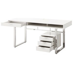 Contemporary Desk with Smooth Finish