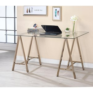 Contemporary Sawhorse Writing Desk