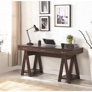 Desk with Sawhorse Leg Design