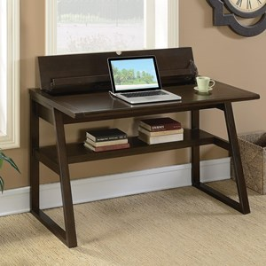 Transitional Writing Desk with Outlet