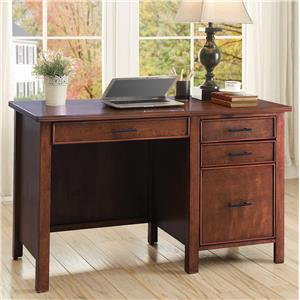 Writing Desk with File Drawer and Outlet