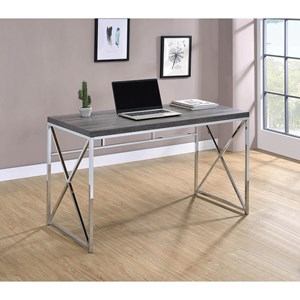 Modern Writing Desk with Metal Base