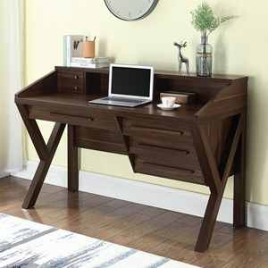 Contemporary Writing Desk with Outlet