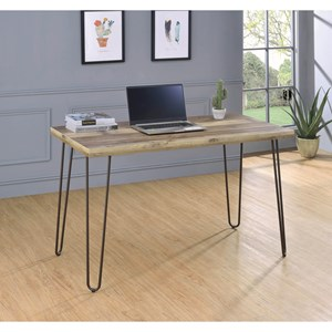 Industrial Writing Desk with Hairpin Metal Legs