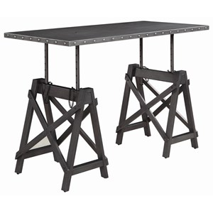 Industrial Adjustable Height Desk