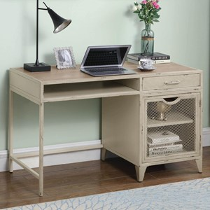 Rustic Writing Desk with Storage