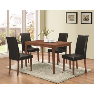 5 Piece Dining Set with Parsons Chairs