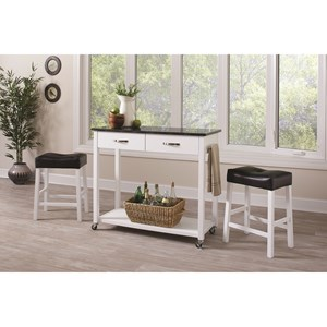 3 Piece Dining Set with Two-Tone Finish