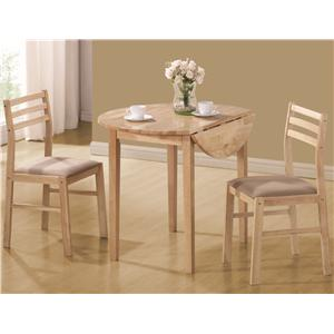 Coaster Dinettes 3 Piece Table & Chair Set