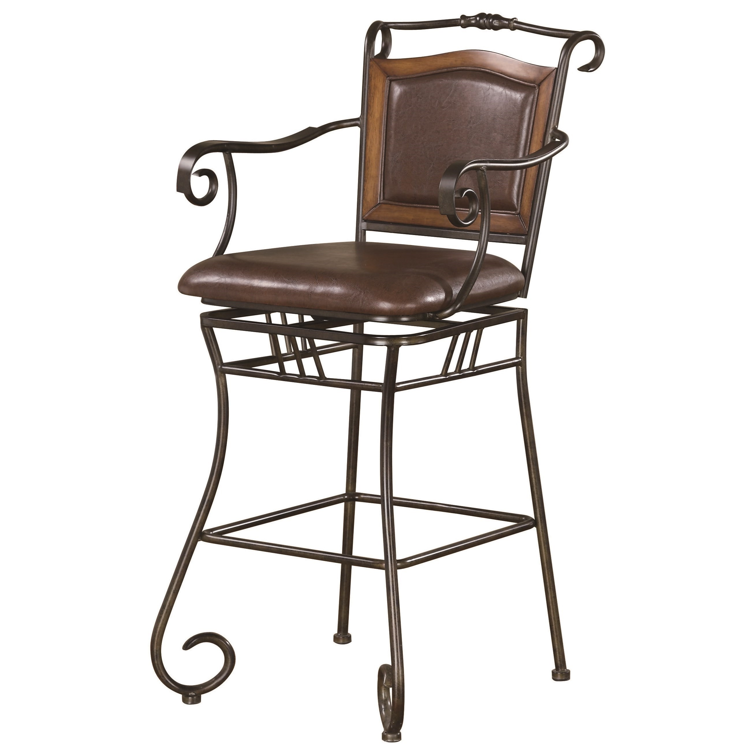 """Dining Chairs and Bar Stools 29"""" Metal Bar Stool by Coaster at Northeast Factory Direct"""