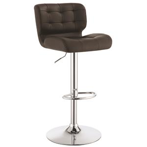 Upholstered Adjustable Bar Stool