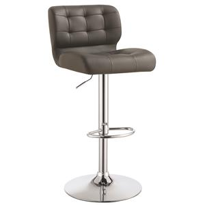 Upholstered Adjustable Bar Stool